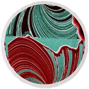 Abstract Fusion 88 Round Beach Towel