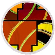Abstract Fusion 92 Round Beach Towel