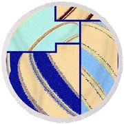 Abstract Fusion 94 Round Beach Towel