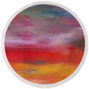 Abstract - Guash And Acrylic - Pleasant Dreams Round Beach Towel
