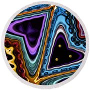 Abstract Hearts Round Beach Towel