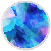 Abstract In Blues 052612 Round Beach Towel