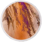 Abstract In July Round Beach Towel