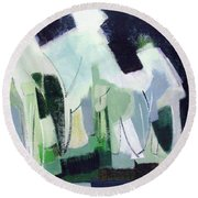 Abstract Island Night And Day Round Beach Towel