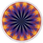 Abstract Kaleidoscope Round Beach Towel
