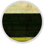 Abstract Landscape - The Highway Series Ll Round Beach Towel