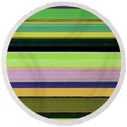 Abstract Landscape - The Highway Series Lll Round Beach Towel