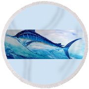 Abstract Marlin Round Beach Towel