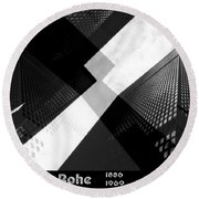 Abstract Mies Round Beach Towel