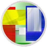Abstract Number One Round Beach Towel