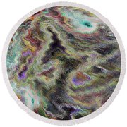 Abstract Pastel Art Round Beach Towel