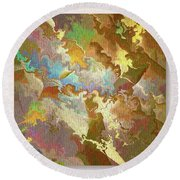 Abstract Puzzle Round Beach Towel by Deborah Benoit