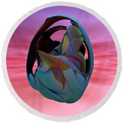 Abstract Sculpture 042412 Round Beach Towel