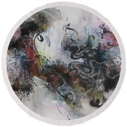 Abstract Seascape00098 Round Beach Towel