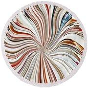 Abstract Seashells Round Beach Towel