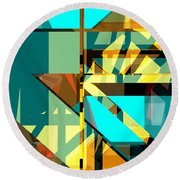 Abstract Sin 24 Round Beach Towel