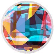 Abstract Sin 28 Round Beach Towel