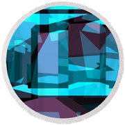 Abstract Sin 29 Round Beach Towel