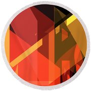 Abstract Sin 31 Round Beach Towel