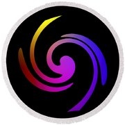 Abstract Spiral Color Round Beach Towel