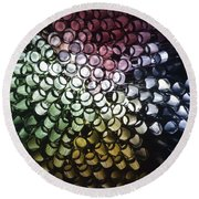 Abstract Straws Round Beach Towel