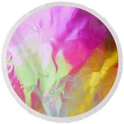 Abstract Summer's Bounty Round Beach Towel