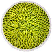 Abstract Sunflower Pattern Round Beach Towel