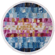 Abstract Sunset I Round Beach Towel