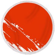 Abstract Swipe Round Beach Towel