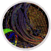 Abstract Textures Round Beach Towel