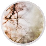 Abstract Trees Round Beach Towel