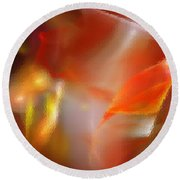Abstract Under Glass Round Beach Towel