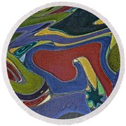 Abstract Xii Round Beach Towel