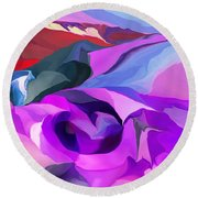 Abstract041712 Round Beach Towel