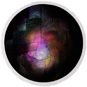 Abstract110111b Round Beach Towel