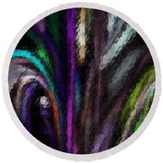 Abstracted 090611a Round Beach Towel