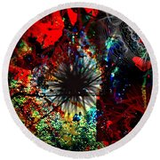 Abstracted  Round Beach Towel