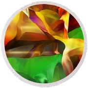 Abstraction 091412 Round Beach Towel