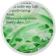 Abundance Affirmation Round Beach Towel