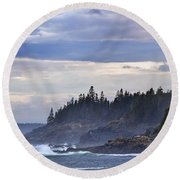 Acadian Cove Round Beach Towel