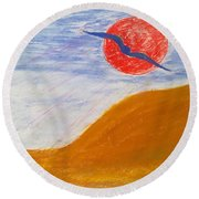 Acceptance Of Freedoms Wings Round Beach Towel