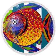 Acidfish 60 Round Beach Towel