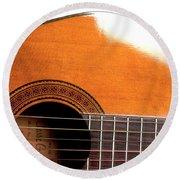 Acoustic Guitar 15 Round Beach Towel