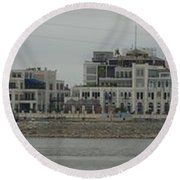 Across The Mississippi Round Beach Towel