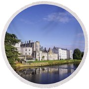 Adare Manor, Co Limerick, Ireland Round Beach Towel