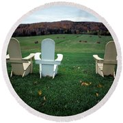 Adirondack Chairs Round Beach Towel