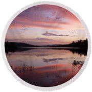 Adirondack Reflections 1 Round Beach Towel