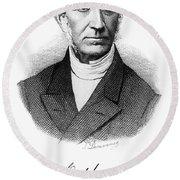 Adolphe Quetelet (1796-1874) Round Beach Towel