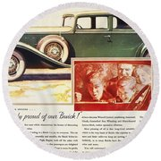 Ads: Buick, 1932 Round Beach Towel