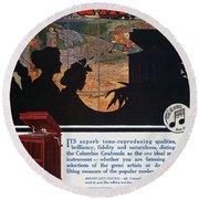 Ads: Phonograph, 1914 Round Beach Towel